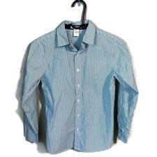 Janie And Jack Boys Button Down Shirt Size 10 Green Stripe 216