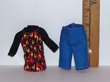 New GENUINE MATTEL BOY MALE MONSTER HIGH DOLLS FLAMES 2 PIECE CLOTHES SET