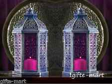 "10 PURPLE Moroccan 11"" Candle holder Lantern light wedding table centerpiece"