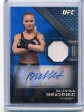 2020 Topps UFC Knockout VALENTINA SHEVCHENKO Blue Autograph Relic Auto #33/50