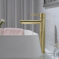 Brass Bathroom Basin Sink Mixer Tap Hot and Cold Faucet Brushed Gold or Black