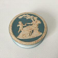 BOITE Bonbonnière Ancienne Décor Ange 1900 Antique French Romantic Angel Box