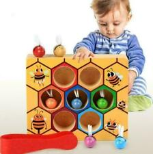 Baby Early Learning Lernspielzeug Holzbiene Clip Out Montessori Spiel Geschenkes