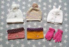 Girls Age 3-4-5-6 Bobble Hat, Snood, Neck Warmer, Pink Regatta Gloves Bundle