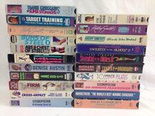 21 VHS Exercise Tapes Kathy Smith Richard Simmons Angela Lansbury Denise Austin