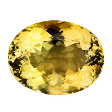 13.830CTS ATTRACTIVE LUSTER YELLOW NATURAL BRAZILIAN CITRINE OVAL GEMSTONES