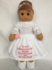 Personalised Rag Doll Goddaughter Granddaughter Daughter Niece Christening 3