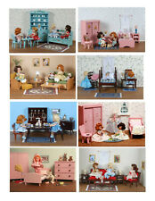 New Vintage Ginny Doll ' Fabulous Furniture' Greeting Cards (8 cards)