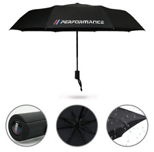 BMW Performance M Sport Umbrella Car Folding Brolly Gift Winter Pocket Black