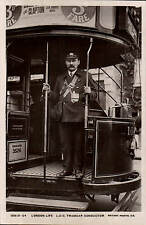 London Life. L.C.C.Tramcar Conductor by Rotary # 10513-24.