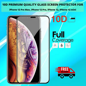 iPhone 12 Mini 12, 12 Pro,12 Max Tempered Glass Screen  Protector 10D 9H