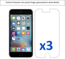 3x Apple Iphone 6 Screen Protector w/ cloth