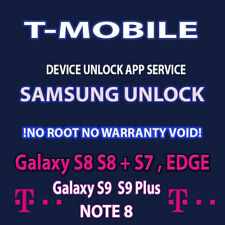 T-MOBILE FACTORY SIM UNLOCK APP CODE SERVICE SAMSUNG GALAXY S8 S9 + S7 PLUS NOTE