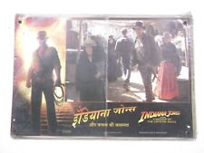 INDIANA JONES KINGDOM OF CRYSTAL SKULL  5pc HINDI+ENGLISH LOBBY CARD INDIA 18x12