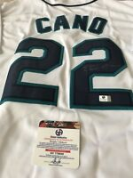 Robinson Cano Autographed/Signed Jersey COA Seattle Mariners
