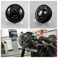 "6,5"" Motorcycle Black Projector Daymaker Headlight Hi/Lo LED Light Bulb"