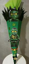 Schultüte Ninjago Zuckertüte Handarbeit Unikat Ranzen Neu Wellpappe grün
