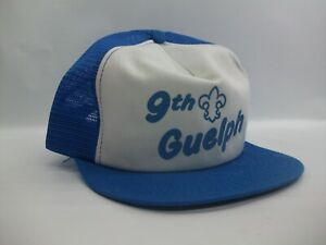 9th Guelph Youth Hat Vintage K Brand Blue White Snapback Trucker Cap