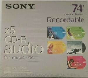 Sony CDR Audio - 5CRM74CRX - Music CD-R Blank Recordable Discs  74 mins / 5 Pack