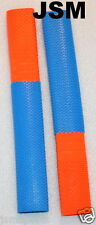 2 X OCTOPUS-Scale Combo Cricket Bat Grips (ORANGE& Bright Blue- SPARTAN Style