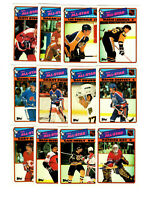 1988/89 topps sticker complete player set 1-12 gretzky, roy, lemieux, bourque!!!