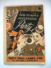 Vintage Party Booklet w/ Donuts Games and Halloween Party *