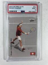 2003 Netpro Elite Tennis Roger Federer RC Rookie Card #E3 MINT PSA 9