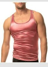 NEW Body Aware/ Xdress Men's Satin Tank LARGE Dusky pink
