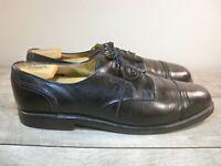 Allen Edmonds Black Leather Cap Toe Lace Up Dress Oxfords Shoes Men's Size 13