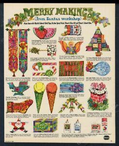 1968 Krylon Spray Paint Elmer's Glue etc psychedelic Xmas craft vintage print ad