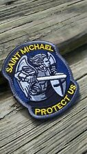 Saint Michael Protect Us VELCRO® BRAND Hook and loop morale patch