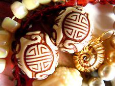 2stk. Grand reduction Beads-Ovale-Perles M. Brun Chine-Design - 18x22mm -