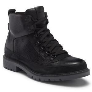 $350 - COLE HAAN Keaton Hiker II Waterproof Black Leather Boot Size 10.5