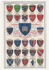 Oxford University, Arms of Colleges, Heraldic, Savage Postcard, B300
