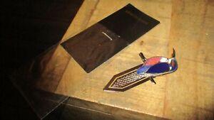 Marque page,stylet-Oiseau &épée-Collector métal alu-Neuf