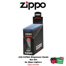 Zippo Box of 24 6-Flint Dispenser Cards, Flints, Windproof & Blu Lighters #2406N