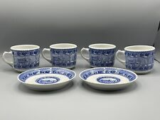 Vintage Baltimore & Ohio Railroad Shenango China Four Cups & Two Saucers B&O