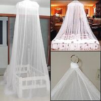White Mosquito Net Fly Insect Protection Single Entry Double King Size Canopy JP