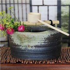 Tsukubai Japanese japanese garden washbasin tea ceremony Shigaraki yaki pottery