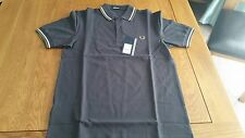 Fred Perry Men's Twin Tipped M3600 Polo Shirt Dark Grey BNWT