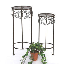 Taburete de flor metal FLORERO 140128 50,60CM Estante de Planta Mesa auxiliar