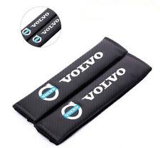 2PCS Car Auto Carbon Fiber Seat Belt Cover Cushion Pads for VOLVO