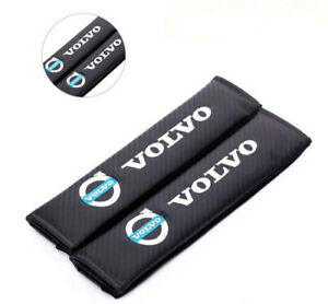 2PCS Car Auto Carbon Fiber Seat Belt Cover Cushion Pads for VOLVO