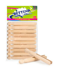 Bettina Traditional Dolly Pegs Clothes Line Wooden Strong Washing Holder