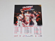 "UNLV Hustlin' Rebels NCAA College Baseball 2018 Schedule Team Poster 20""x16"" NEW"