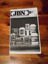 JBN bodybuilding muscle 1990 nutritional supplement catalog Volume 1 #1