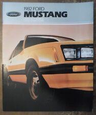 Ford Mustang 1982 revisado folleto de ventas Prospekt catálogo Catálogo