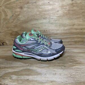 Saucony Hurricane 16 Running Shoes 10226-1 Women's 6 Wide Gray Green
