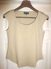 100% Authentic JOSEPH Beige Cotton Velvet Trim T/Shirt  34/36 Bust Size 2