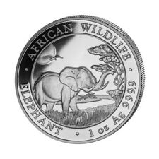 Somalia 100 Shillings, 2019, African Wildlife Elephant, 1oz SILVER Coin, UNC